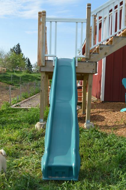 DIY slide from deck platform4