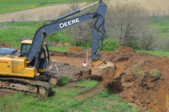 digging a foundation newlywoodwards08