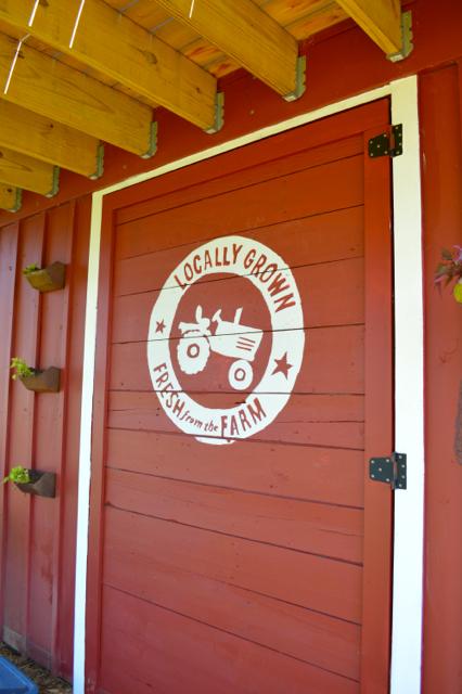 DIY barn door vintage sign painted1