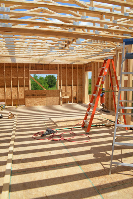 Raising walls and floor trusses15