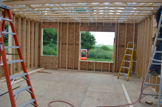 Raising walls and floor trusses16