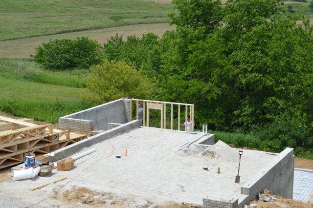 basement plumbing and walls June 201509