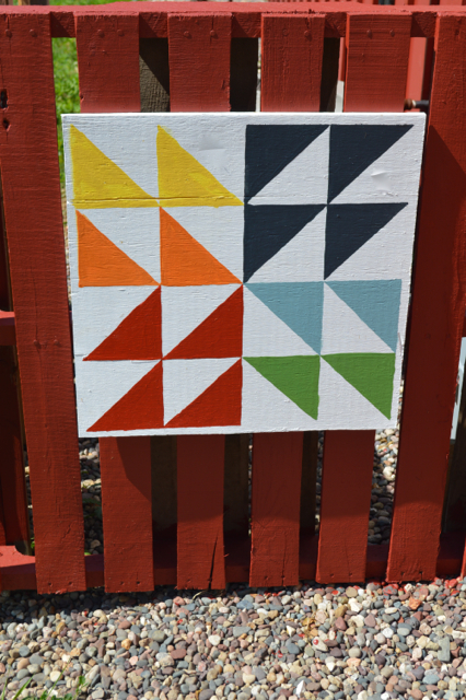 small DIY barn quilt2