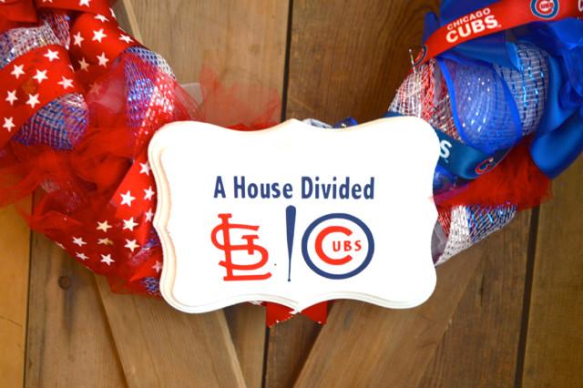 Cubs cardinals DIY wreath4