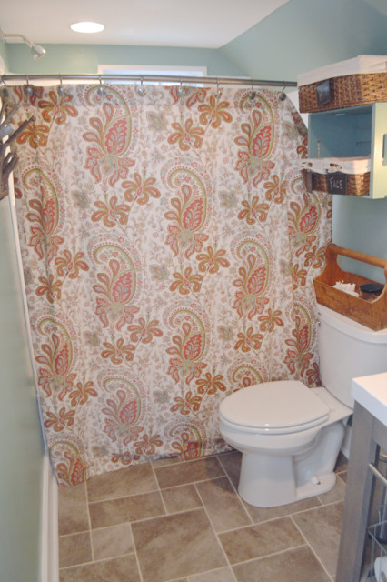 behr modern mint bathroom reveal1
