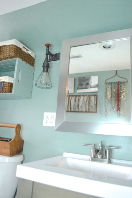 behr modern mint bathroom reveal5