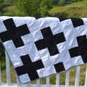 black and white cross quilt3