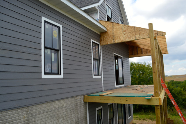 siding progress September 201505