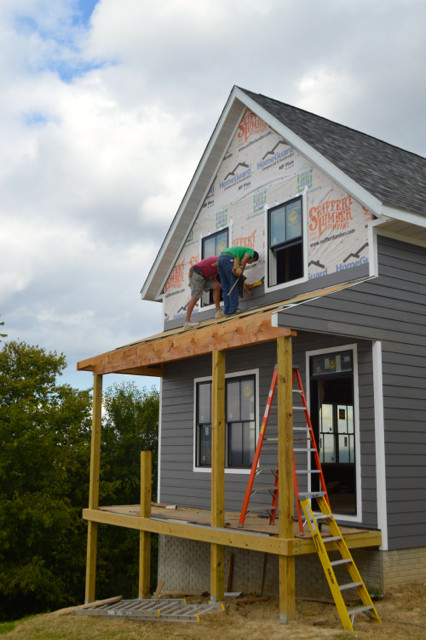 siding progress September 201509