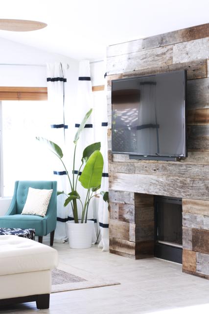 fireplace barnwood surround