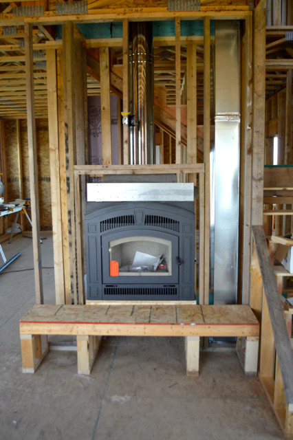 Weigh in ideas for our farmhouse fireplace newlywoodwards for New construction wood burning fireplace