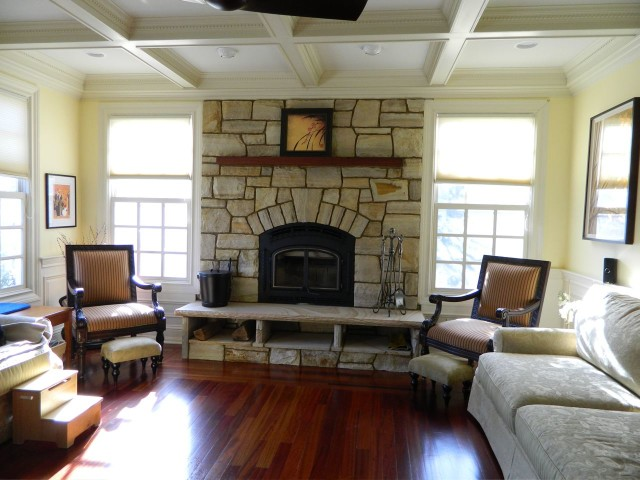 Storage Below Fireplace