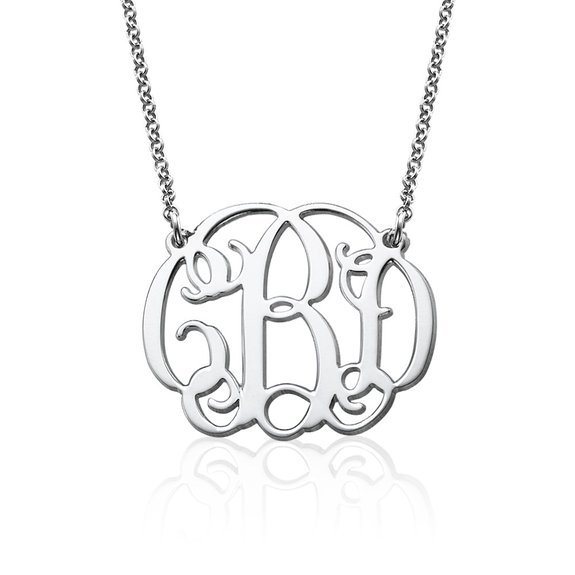 monogram necklace newlywoodwards