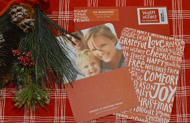 Christmas letterpress cards and envelope inserts TinyPrints