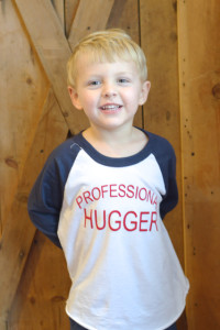 DIY Valentine's Day shirt for boys (Professional Hugger) – free Silhouette file