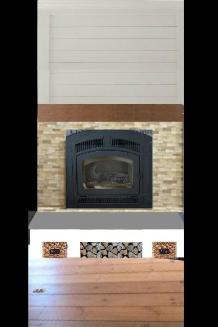fireplace design mock-up