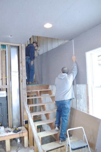 hanging plaster board DIY04