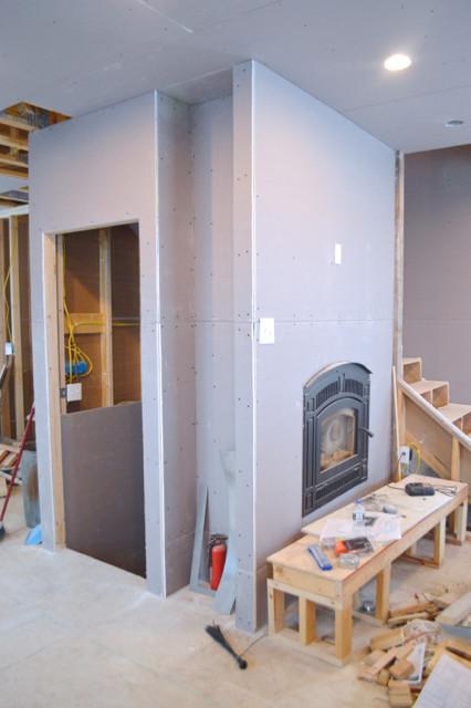 hanging plaster board DIY09