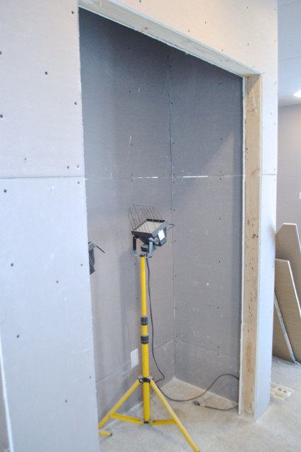 hanging plaster board DIY12