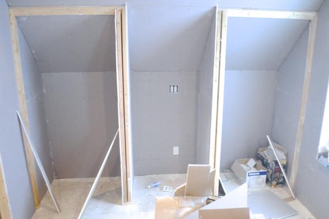 hanging plaster board DIY19