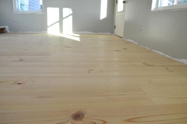 Installing Wide Plank Pine Flooring