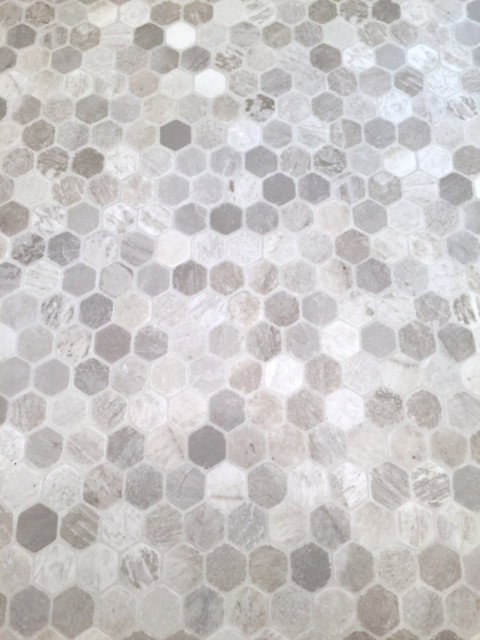 Tile Look Vinyl Part - 35: Hexagon Tile Sheet Vinyl1