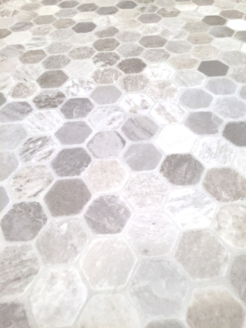 Hexagon tile sheet vinyl2