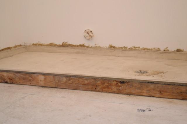 laundry concrete floor with drain2
