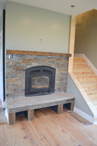 Trimming out a fireplace with barn wood