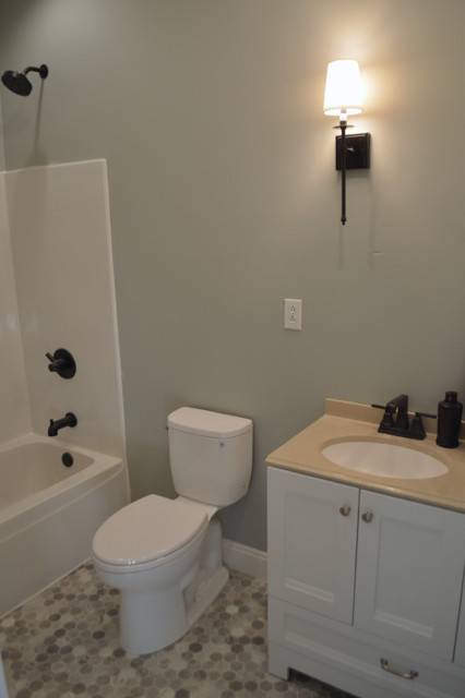 orb sconces in bathroom with shades1