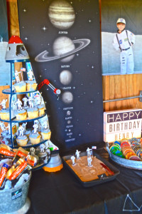 A space party for little astronauts (Henry's 4th birthday)