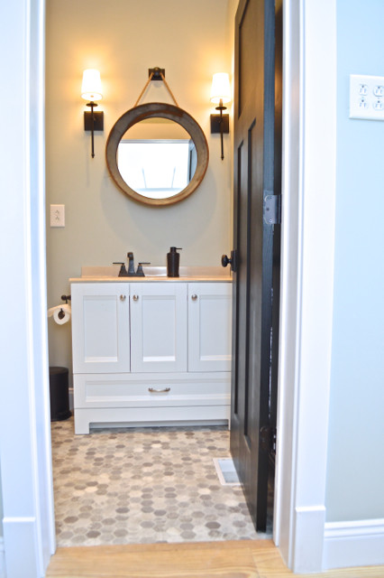 downstairs eclectic bathroom on a budget1