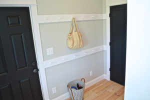 A DIY Shaker peg rail for the mudroom