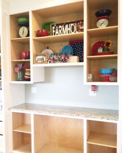 Installing kitchen drawers and shelves