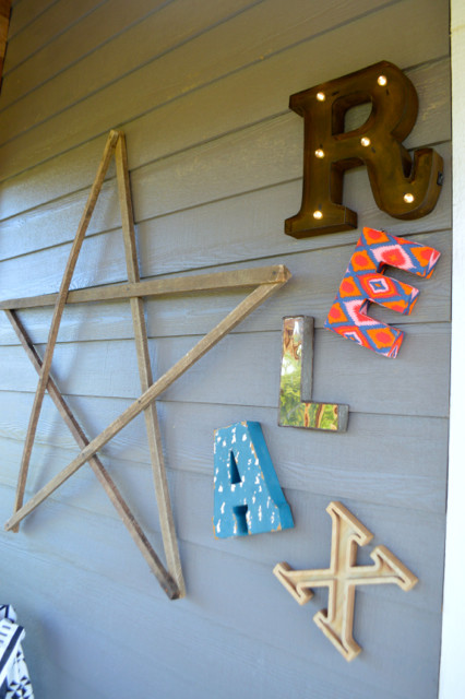 RELAX letters on porch1