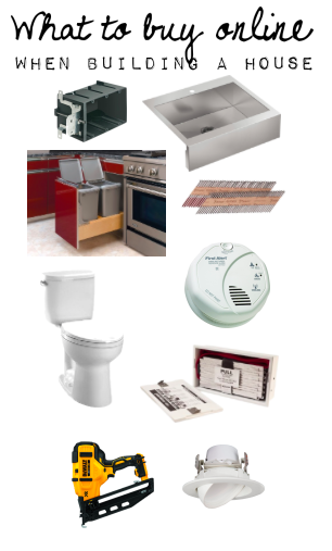 What items you can buy online when building a house