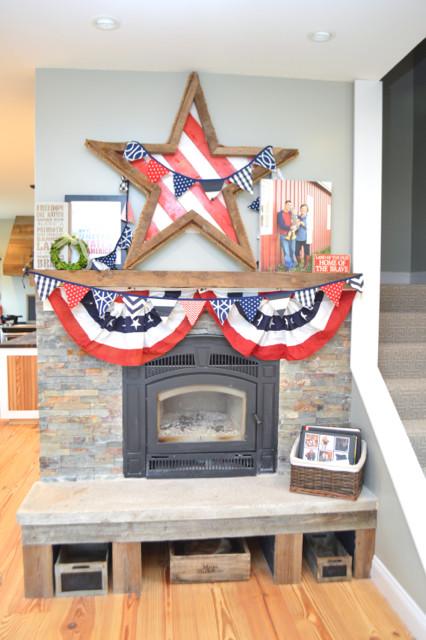 barnwood patriotic star mantel1