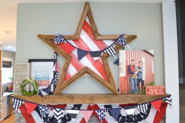 barnwood patriotic star mantel2