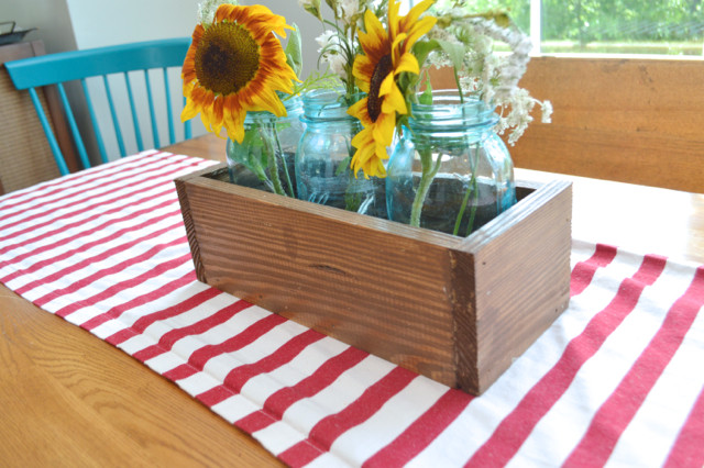 how to make a DIY wood box centerpiece7