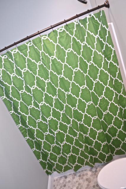Kelly Green Shower Curtain1