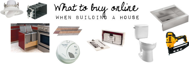 what to buy online when building