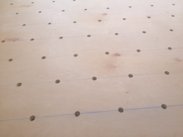 DIY pegboard for costume and kid storage06