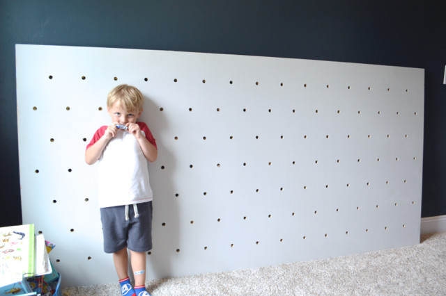 DIY pegboard for costume and kid storage08