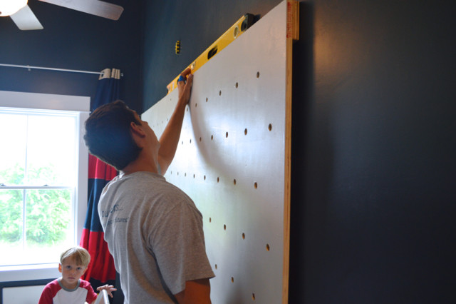 DIY pegboard for costume and kid storage09