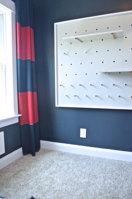 DIY pegboard for costume and kid storage25