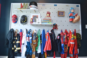 How to create a DIY pegboard wall for versatile kids' storage