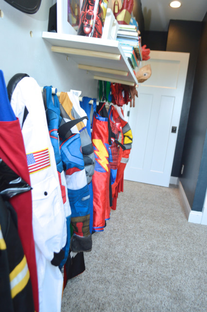 DIY pegboard for costume and kid storage28
