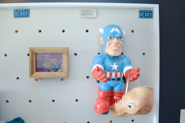 DIY pegboard for costume and kid storage35