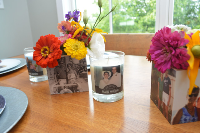 how to make a photo cube into a vase4
