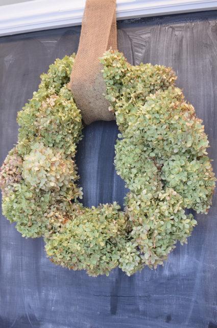 Make a DIY hydrangea wreath for $4